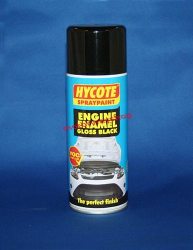 Engine Enamel Gloss Black Spray Paint Hycote 400ml